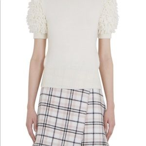 Carven White short sleeve sweater